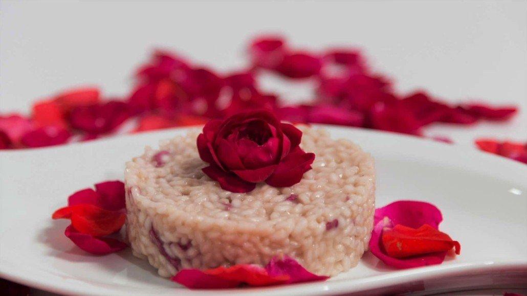 risotto alle rose, perfetto per san valentino